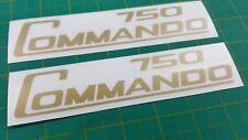 Norton Commando 750 restauration Panneau Latéral Autocollants/stickers