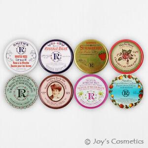 """8 Rosebud Lèvre Baume Boite (0.8 OZ) - 8 Parfumé """" Complet Set """" Joy's"""