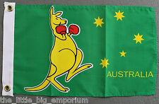 Australian Boxing Kangaroo Flag Small Size New Polyester Australia Aussie - Boat