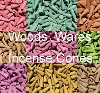 50 x INCENSE CONES 2.5cm Loose Indian Colourful Exotic - Selection of Fragrances