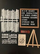 BEST DEAL! Letter Board 10 X 10in frame, stand, 478 Characters