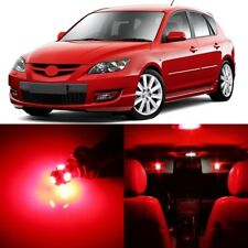 8 x Ultra RED Interior LED Lights Package For 2004 - 2009 Mazda 3 +TOOL