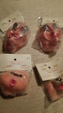 Lot of 4 D4 Vintage Craft Doll Faces -