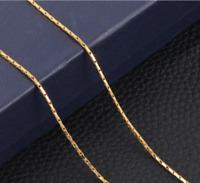 18 Karat dünne Goldkette Schlangenkette vergoldet 1MM für Anhänger 50cm Schmuck