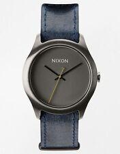 Nixon Women's Mod A4281893 Grey Leather Quartz Watch nx355