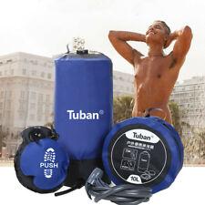 Camping Solar Shower Bag Bathing Bag Pressure Shower Foot Pump&Shower Nozzle