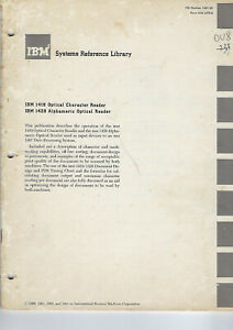 IBM SYSTEM REFERENCE LIBRARY VINTAGE UNIQUE