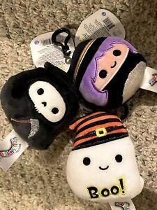 BNWT Otto the Gim Reaper Halloween 2021 Squishmallow Clips Bundle of 3! RARE HTF