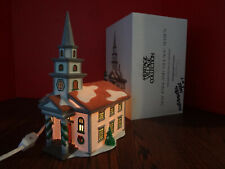 "Dept 56 ""Arlington Falls Church"" Handpainted Porcelain New England Series 5651-0"