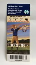 Notre Dame Irish UCLA 2006 Football Ticket Stub Paul Hornung Heisman Winner