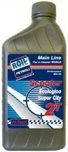 RoilPetroli 1 lt di olio sintetico 2T tempi per miscela scooter motori motorini