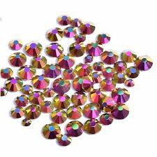 100 Strasssteine Mix Strass Kristalle Glas Glitzer Steine Nail Art SS4-SS12 Gold