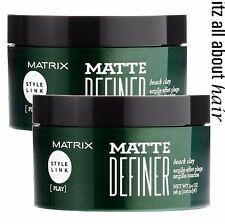 Matrix Style Link Matte Definer Beach Clay 98g Hair Texture Styling Duo (x2)
