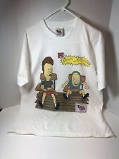 Vintage SINGLE STITCH Beavis and Butthead T-shirt L Touch Tone interactive 1997