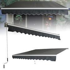 Markise Alu-Gelenkarm Gelenkarmmarkise Sonnenschutz mit Handkurbel Balkonmarkise