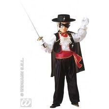 Costume Caballero Camicia con Jabot Gilet Pantaloni Cintura Mantello Mascherina WIDMANN