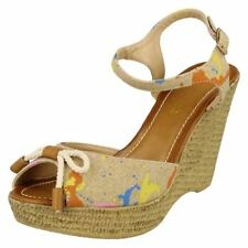 Wedge Strappy Multi-Coloured Sandals & Beach Shoes for Women