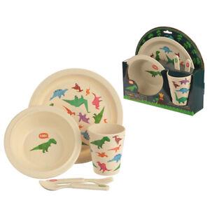 BRAND NEW! Bamboo Biodegradable Kids Dinner Set! Unicorn/Dinosaurs/Zoo designs