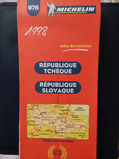 Carte michelin 976 rep tcheque et slovaque 2e  edition 1998 neuve lauriers BIB