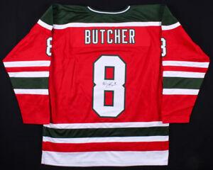 Will Butcher Signed Devils Red Jersey (JSA COA) New Jersey 3rd year Defenseman