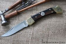 Vietnam War BUCK 110  Pocket Knife - Hand Engraved Silver Inlay - Deluxe Edition