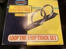 Aurora Model Motoring Loop the Loop HO Scale Track Set 1504 in Box 1966 Slot Car
