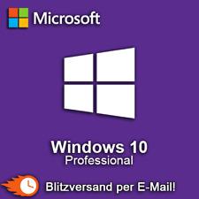 Microsoft Windows 10 Pro Professional 32 & 64 bit Vollversion Blitzversand