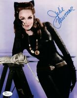 Julie Newmar Signed Autographed 8X10 Photo Batman Sexy Catwoman Blue Ink JSA