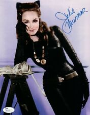 Julie Newmar Signed Autographed 8X10 Photo Batman Sexy Catwoman Blue Ink JSA