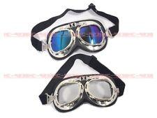 Vintage Style Aviator Pilot Cruiser Motorcycle Road Goggles Helmet Glasses #m8