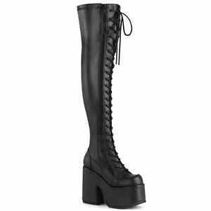 CAMEL-300  Black Stretch Vegan Leather