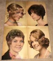 VINTAGE ORIGINAL HAIR SALON STYLES POSTER 70'S SHAG RETRO FASHION COSMETOLOGY