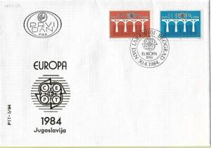 FDC 1984 Yugoslavia Europe CEPT Postal Telecommunications Conference Philately