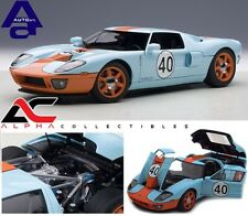 AUTOART 80513 1:18 2004 FORD GT GULF #40 BLUE WITH ORANGE STRIPES SUPERCAR