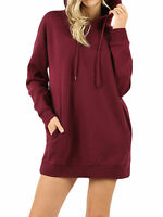 Women Oversized Loose Fit Hoodie Long Tunic Sweatshirts Activewear Top