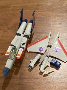Vintage G1 Transformers Starscream Seeker Jet~ incomplete 1983 Hasbro