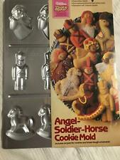 Vintage Wilton Cookie Maker Angel Soldier Horse Mold Aluminum Pam **read*