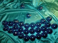 ~ Konvolut 35 alte Christbaumkugeln Glas blau gold Tanne Stern Weihnachtskugeln