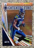 2019 Panini Phoenix DK Metcalf Catching Fire Orange Rookie Card #06/99 - Seattle