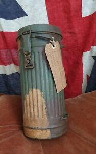 WW2 GERMAN GAS MASK CANISTER, NORMANDY BATTLEFIELD RELIC