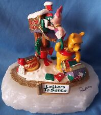 Ron Lee 1993 LETTERS TO SANTA Winnie-the-Pooh & Piglet Sculpture #MM550 Disney