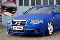 Spoilerschwert Frontspoiler Lippe aus ABS Audi A6 4F C6 mit ABE schwarz glänzend