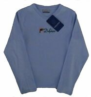 Miami Dolphins NFL Vintage Long Sleeve Slim Fit Shirt Women's Sizes NWT