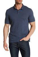 John Varvatos Storm Blue Basic Polo Shirt Size M Medium