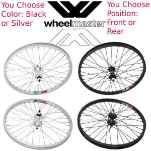 "Wheelmaster 20"" Alloy Front or Rear / Black or Silver BMX Bike Wheel ISO 406"
