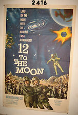 12 To the Moon 1sh Movie Poster 1960 moon with the intrepid first astronauts