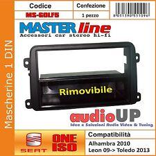MASCHERINA AUTORADIO 1 DIN SEAT TOLEDO DAL 03/2013 IN POI - CASSETTO RIMOVIBILE