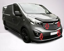 RENAULT TRAFIC 2014-2020 FRONT LOWER ABS GLOSS BLACK SPLITTER + BONNET DEFLECTOR