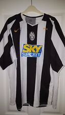 Mens Football Shirt - Juventus - Home 2004-2005 - Nike - Black & White - XXL