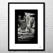 """Photographie d'art (+cadre) """"The Faint Shadow Of Graffiti"""" (Noir et blanc)"""